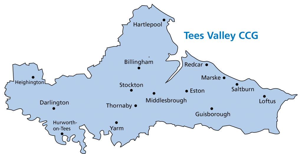 Tees Valley CCG area map